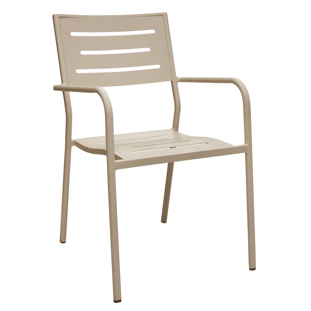 Owen creme dining arm chair