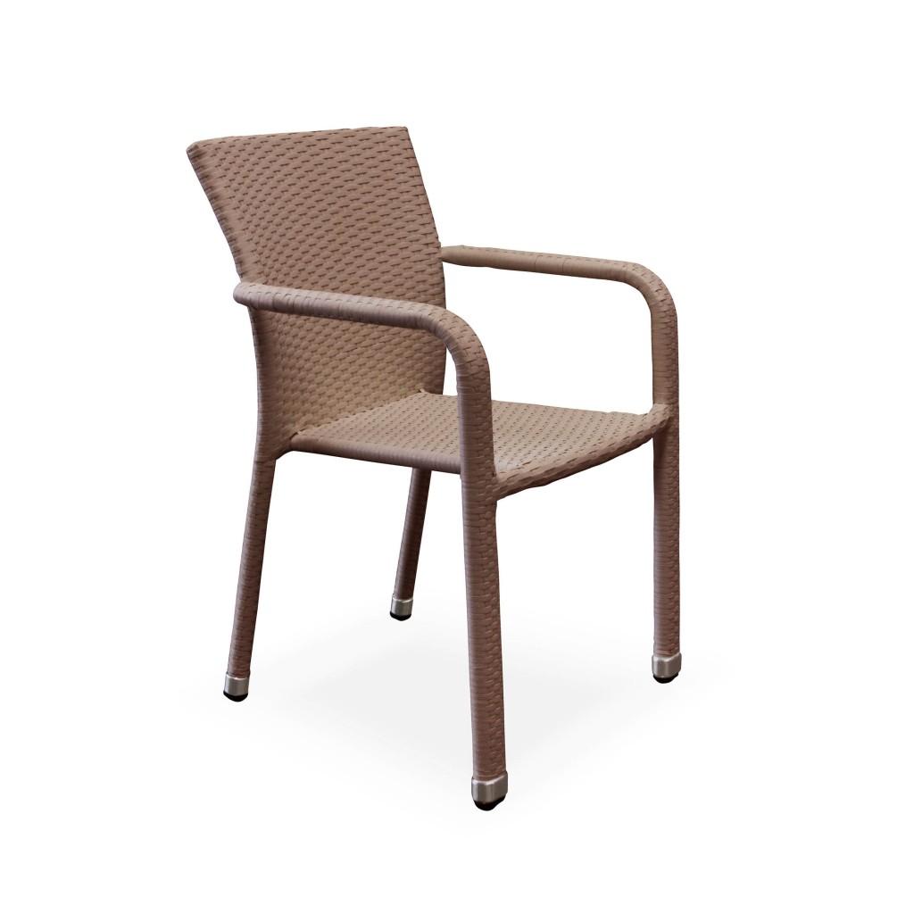 Matt coffee dining arm chair