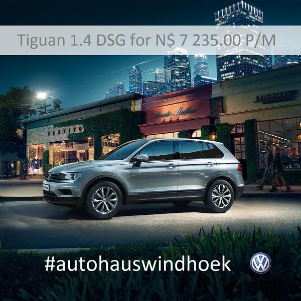 Tiguan Trendline DSG for N$ 7235 P/M