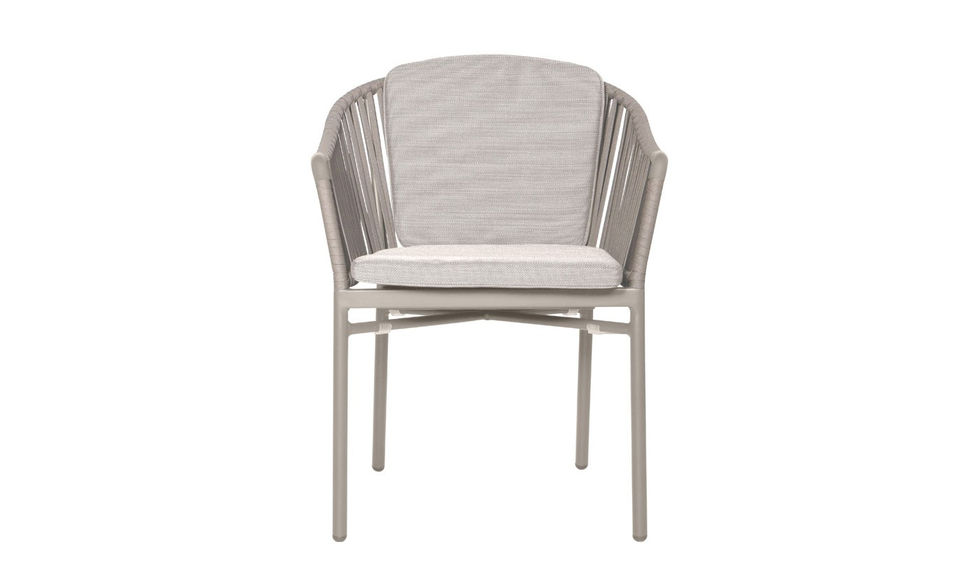 Xander Dining arm chair White