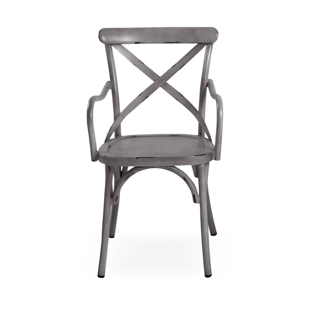 Lorry grey dining arm chair