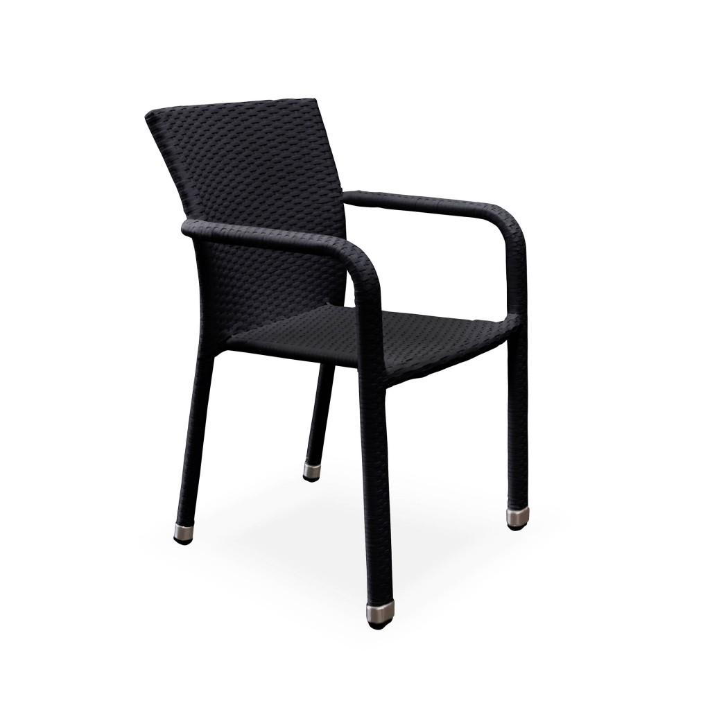 Matt black dining arm chair