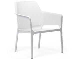 Nura Dining arm chair white