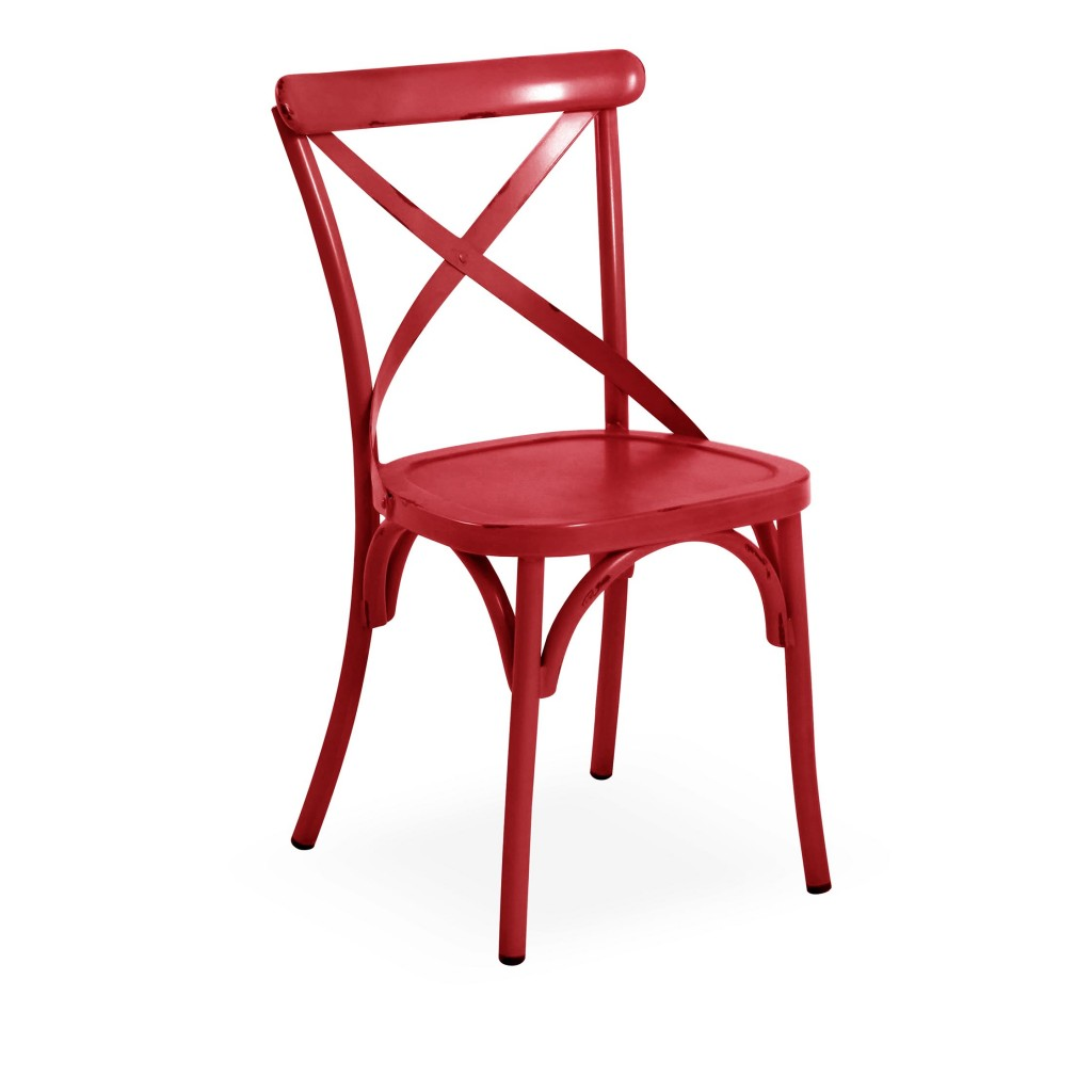 Lorry red dining side chair