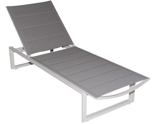 Gibson Sun Lounger - white grey