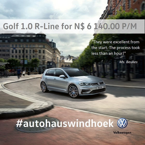 Golf 1.0 R-Line for N$ 6140 P/M