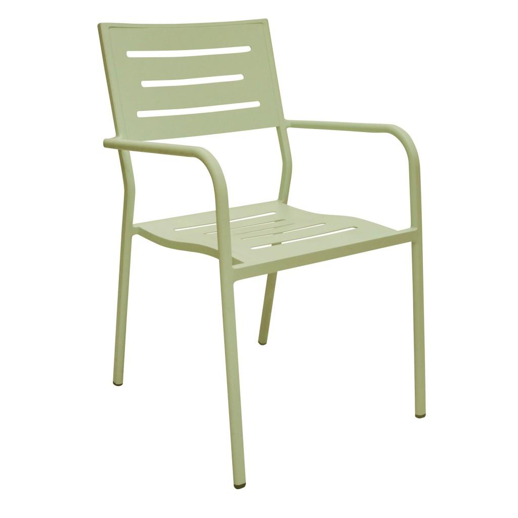Owen green dining arm chair