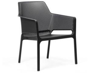 Nura Dining arm chair black