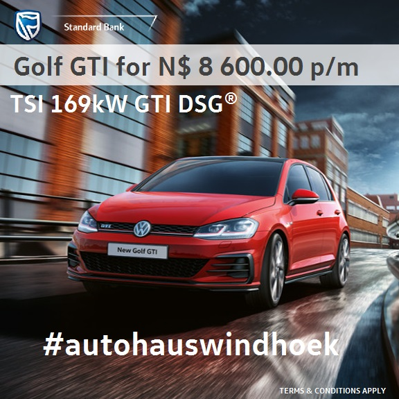 Golf GTI DSG for N$ 8 600.00 per month