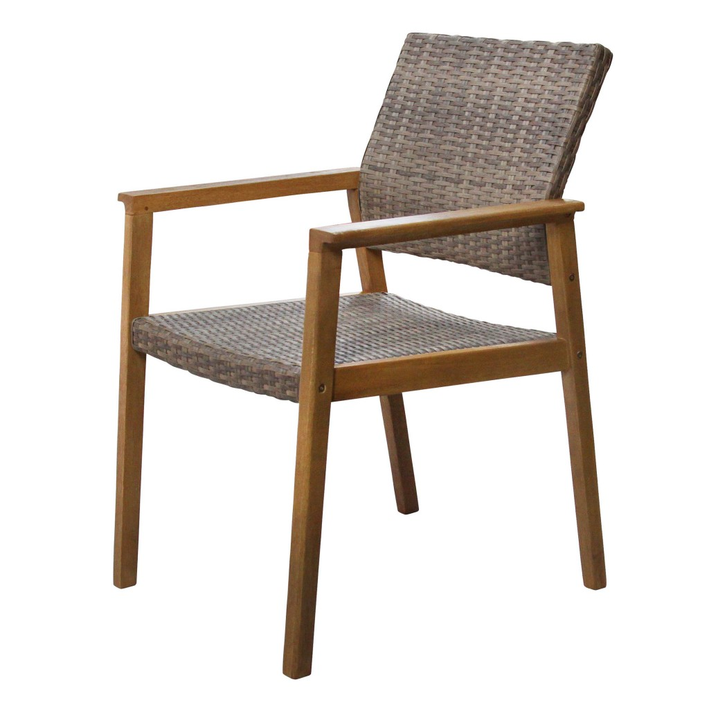 Woody weave dining arm chair