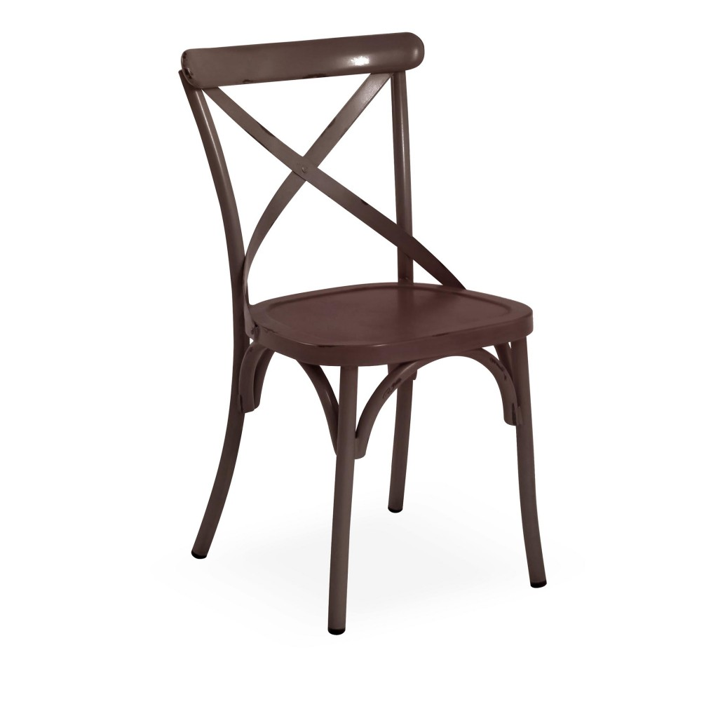 Lorry brown dining side chair