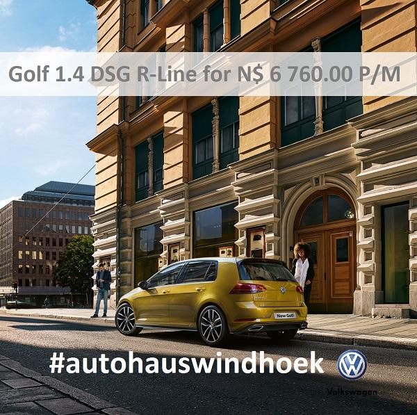 Golf 1.4 DSG R-Line for N$ 6760 P/M