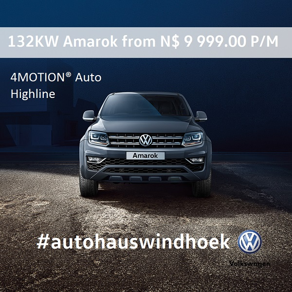 132KW Amarok 4Motion from N$ 9999 P/M