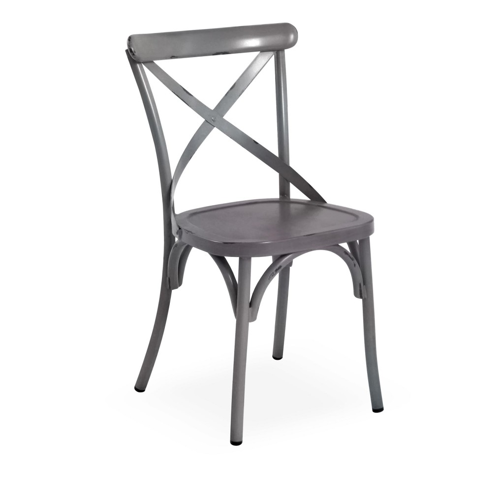 Lorry grey dining side chair