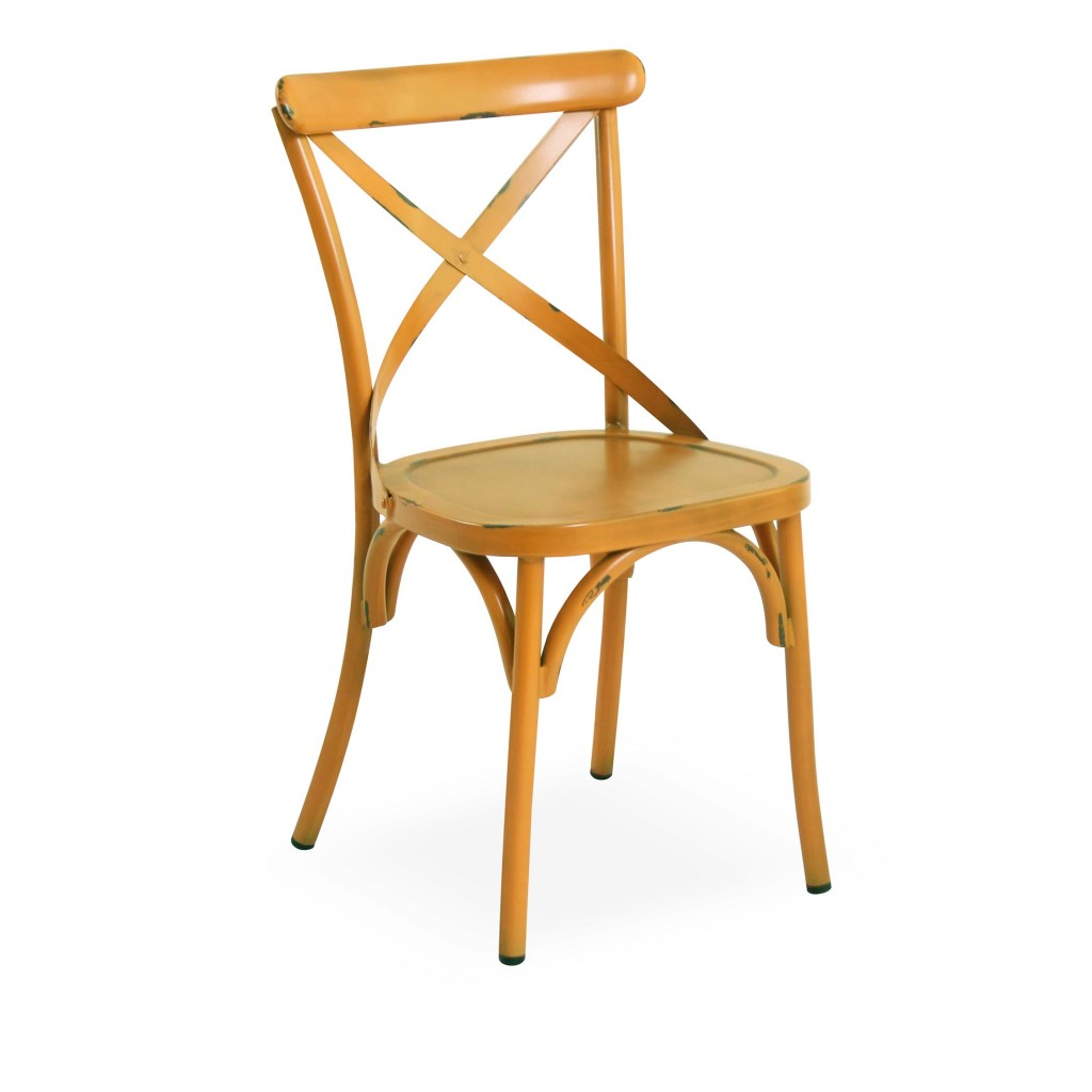Lorry yellow dining side chair