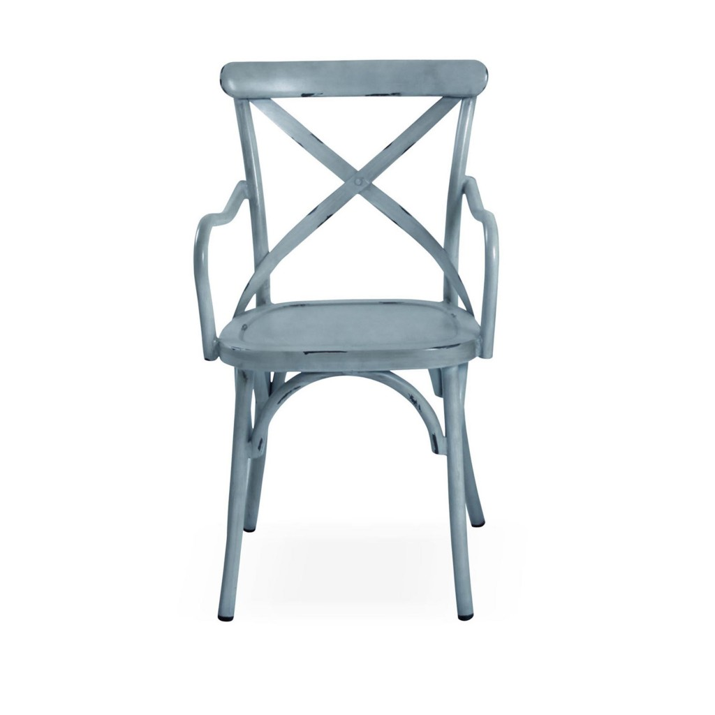 Lorry blue dining arm chair