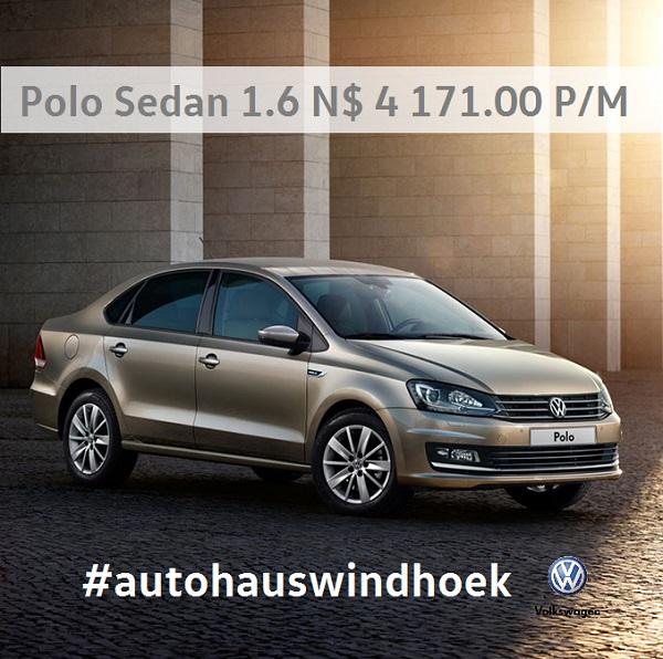 Polo Sedan 1.6 for N$ 4171 P/M