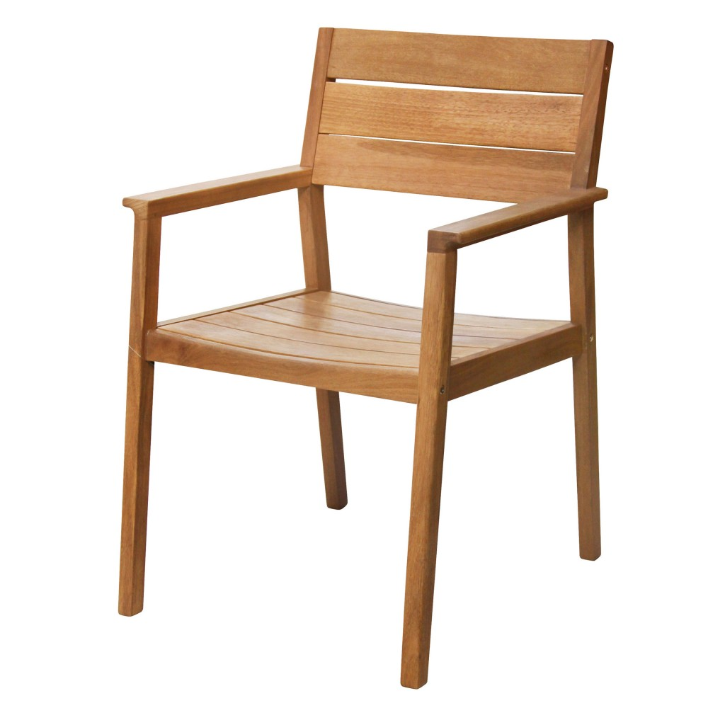 Woody dining arm chair