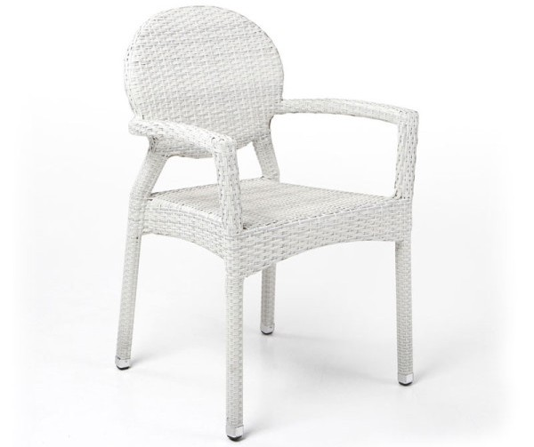 Courtney Dining arm chair white