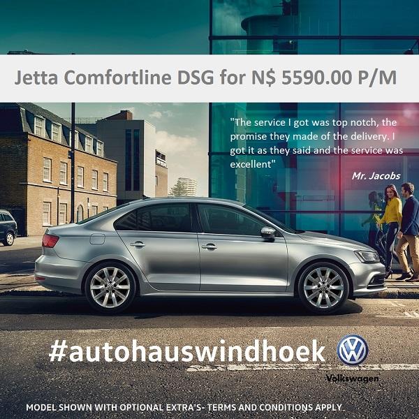 Jetta Comfortline 1.4 DSG for N$ 5590 P/M