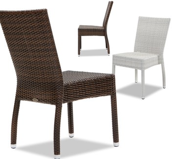 Piarro Dining side chair brown / white