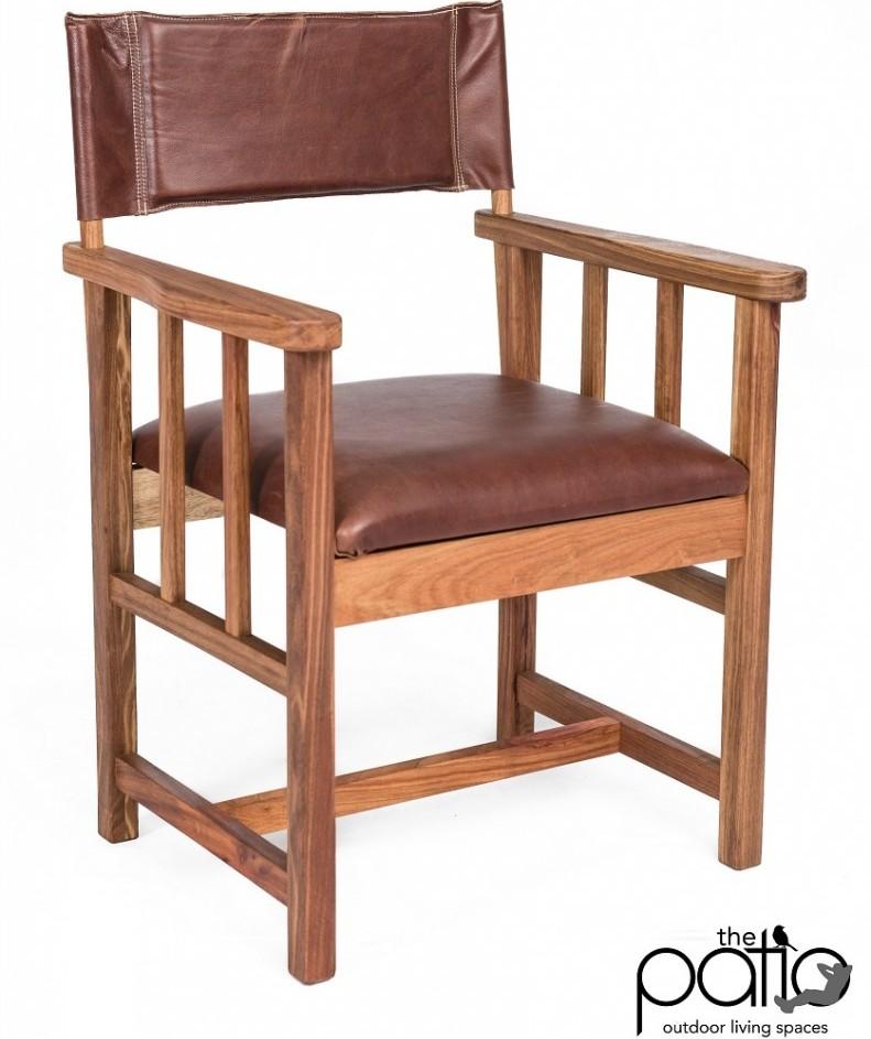 Kiaat Director Chair - Genuine Leather