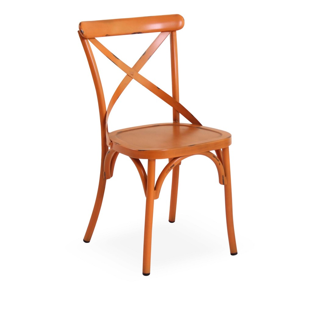 Lorry orange dining side chair
