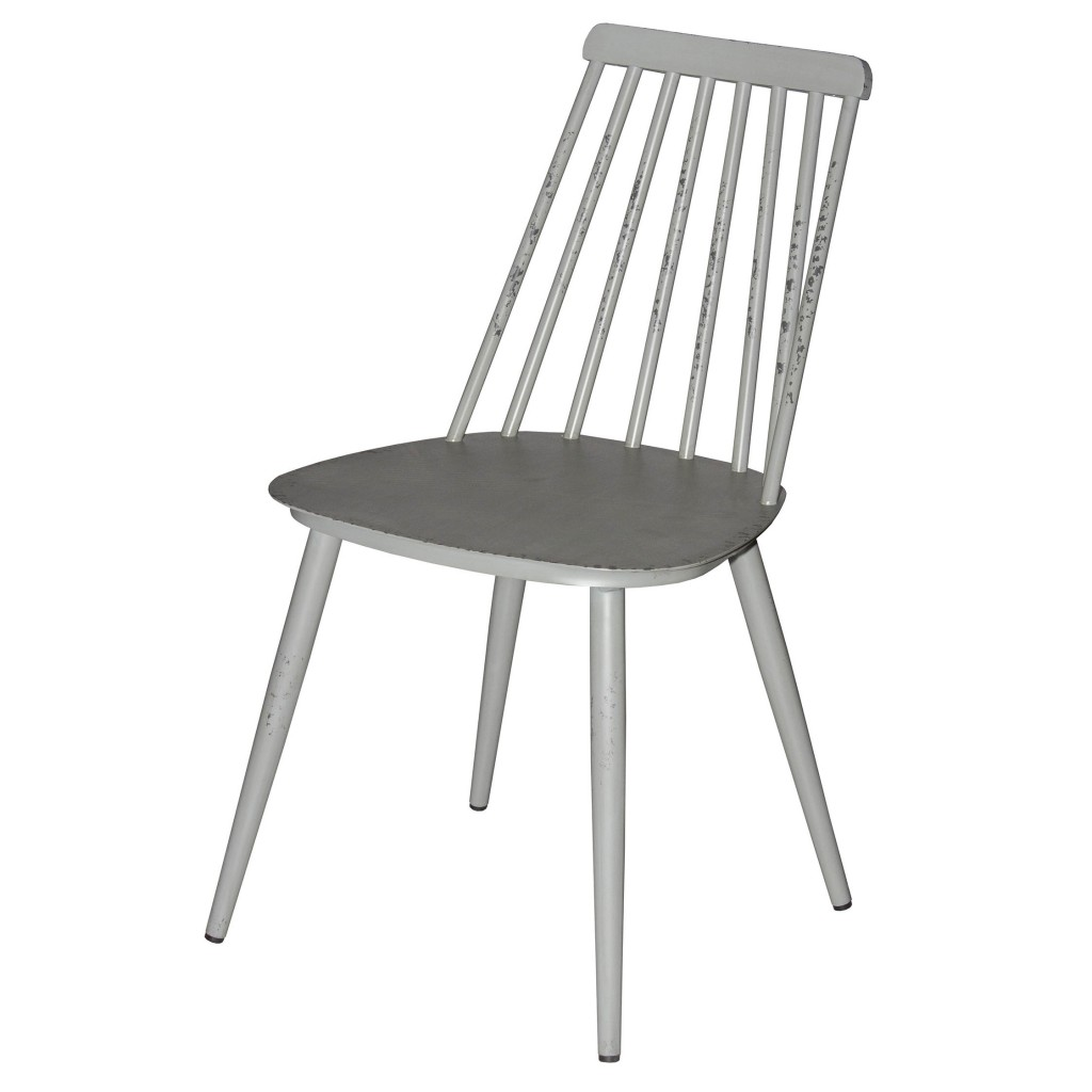 Corr grey dining side chair
