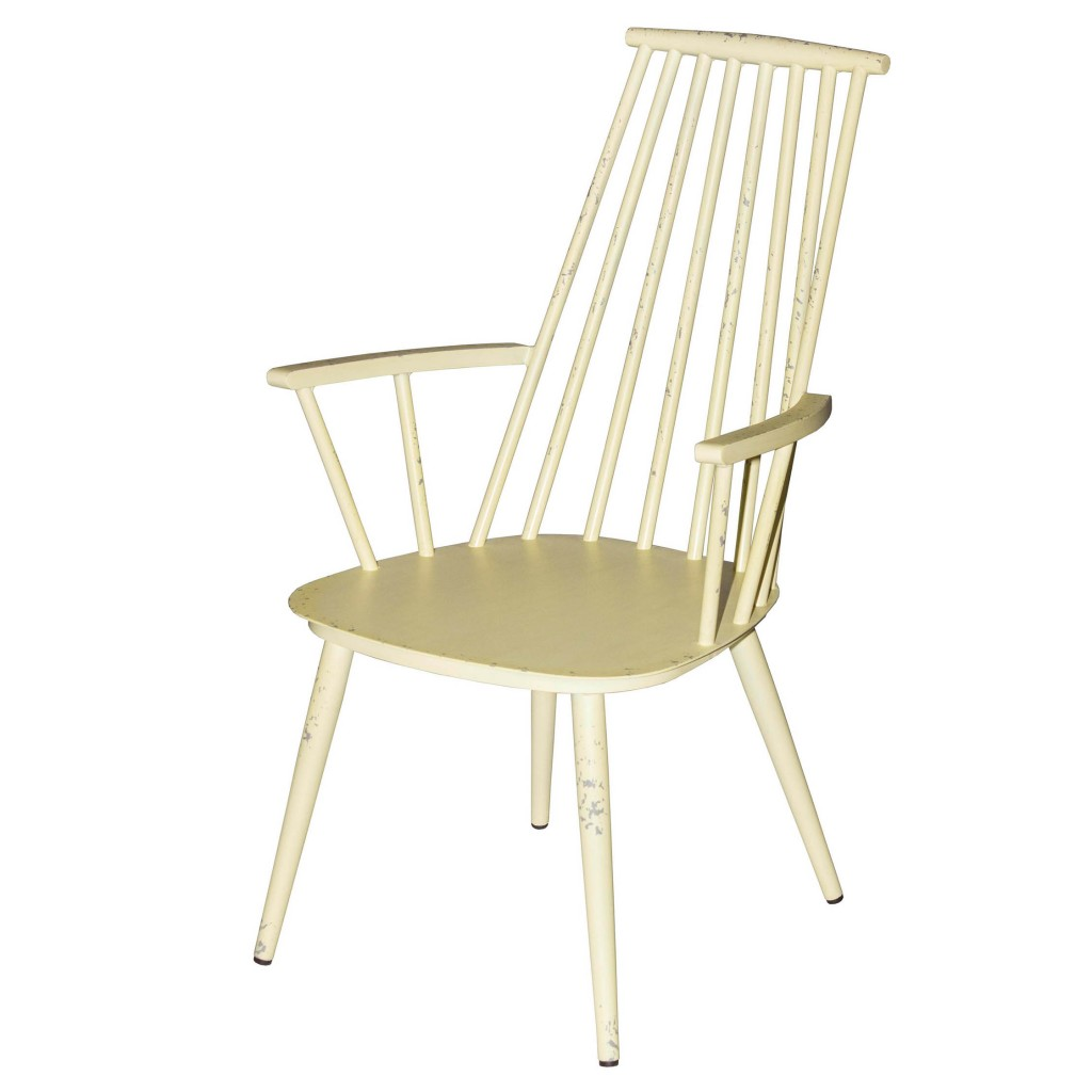 Corr yellow dining arm chair
