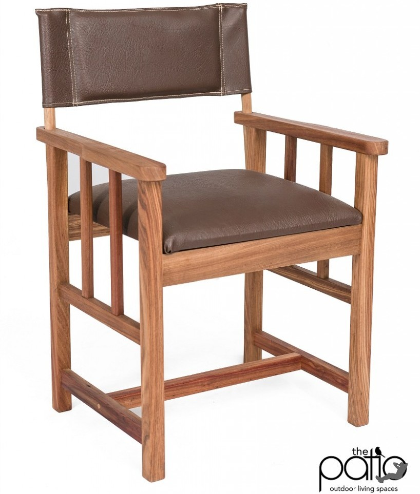 Kiaat Director Chair - Artificial Leather