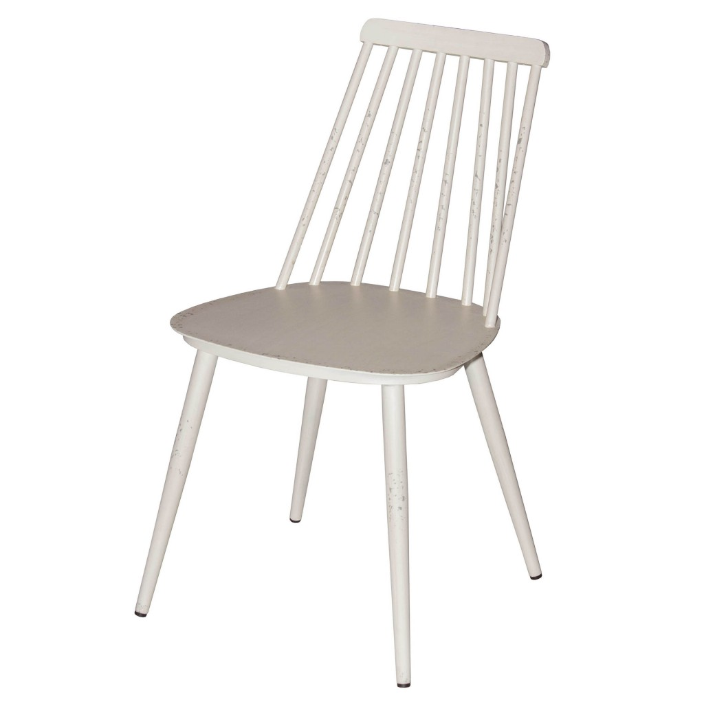 Corr white dining side chair