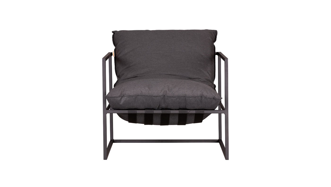 Mario Lounge arm chair charcoal