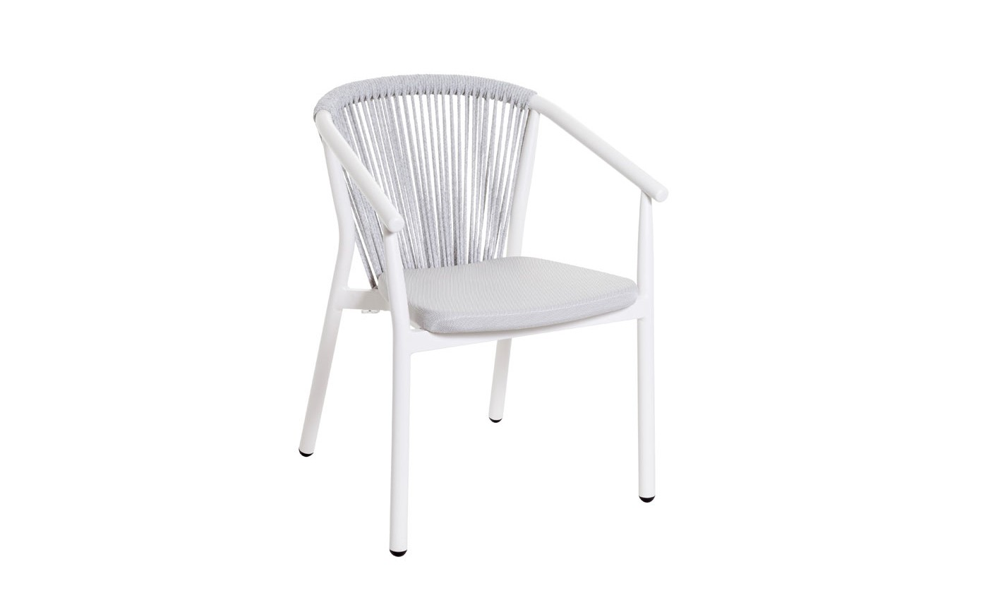 Filo Dining arm chair White