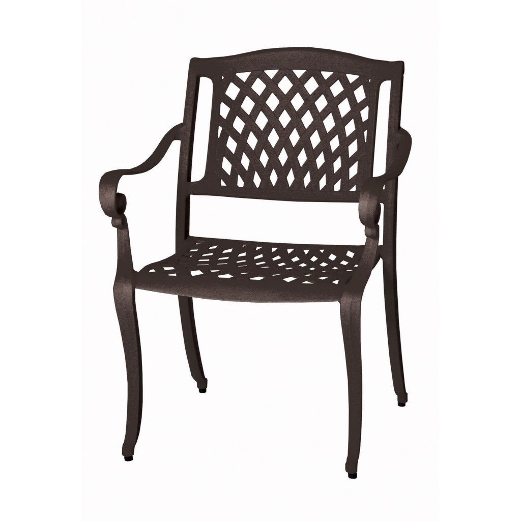 Castro brown dining arm chair