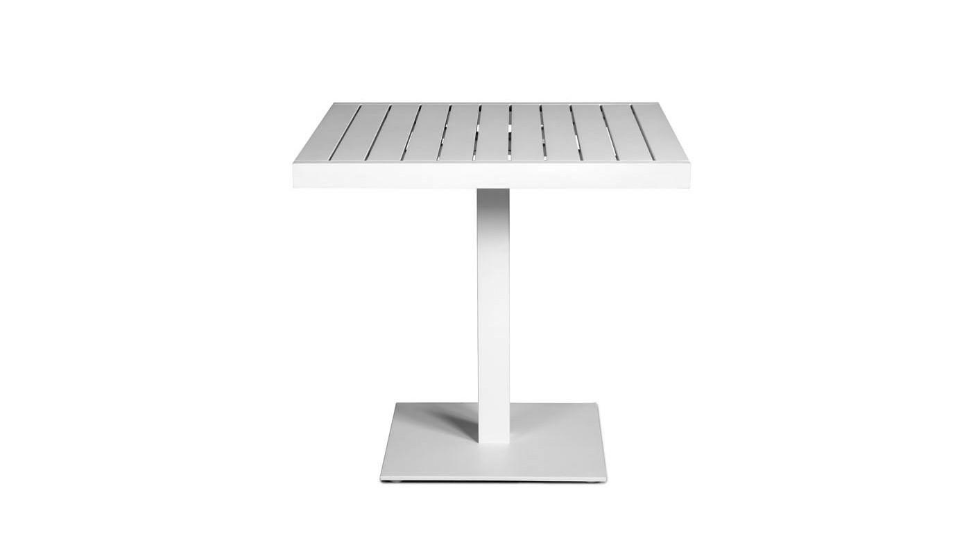 Piaat Pedestal table White