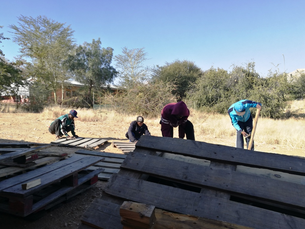 Progress Namibia - Small steps to improving life at Sonder Water through pallet furniture