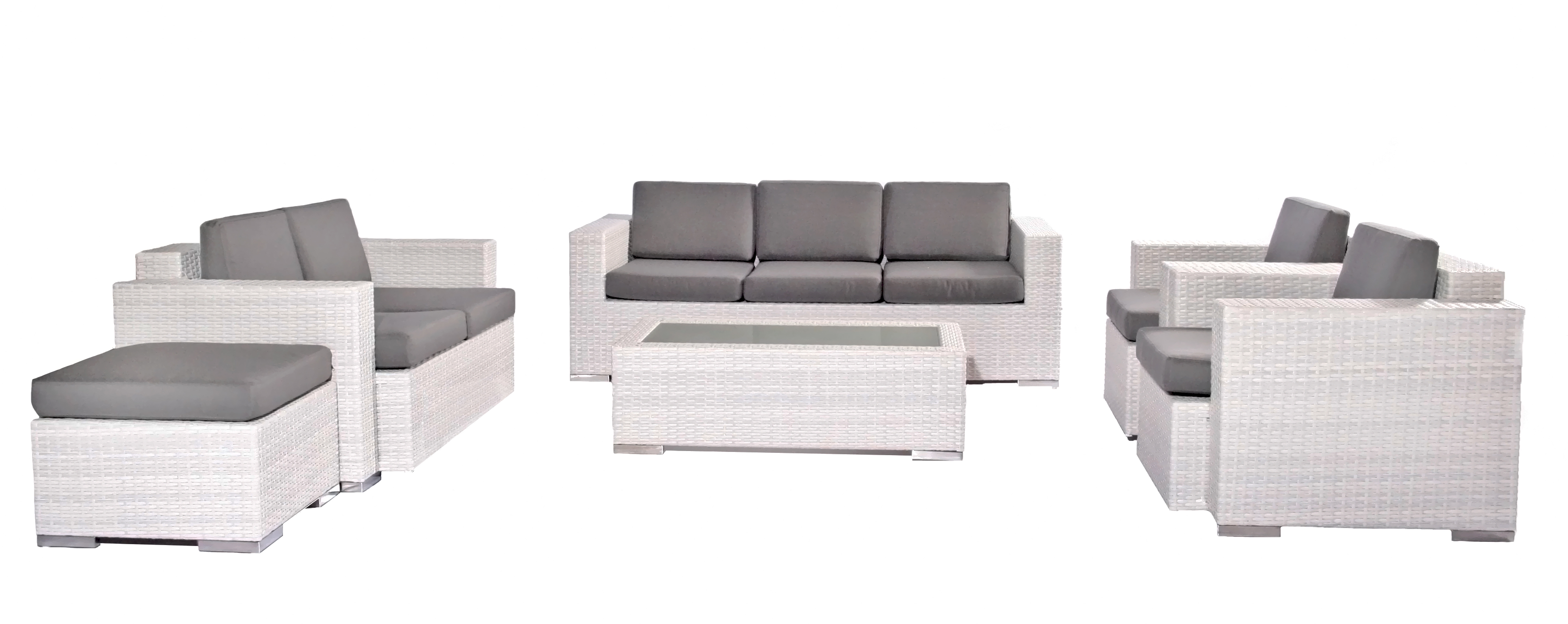 Dinya lounge suite white