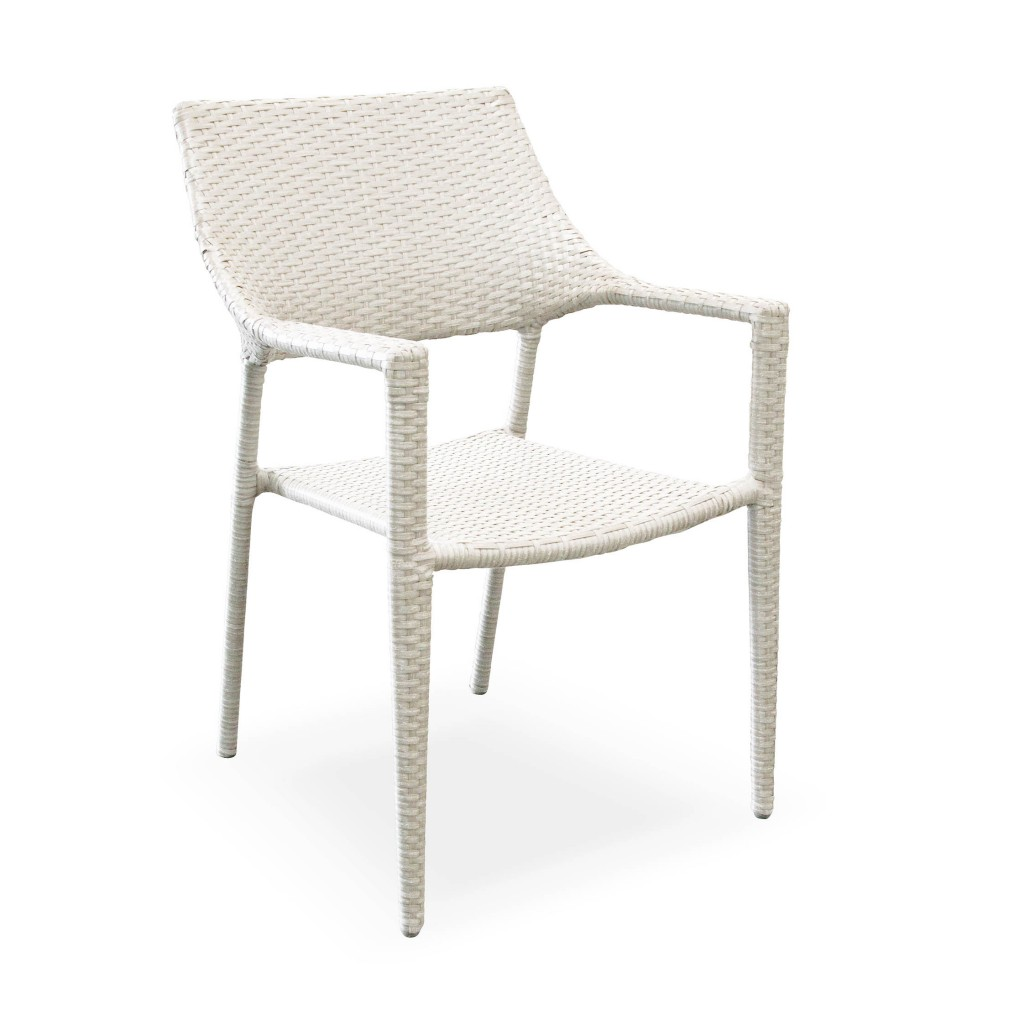 Theo white arm chair