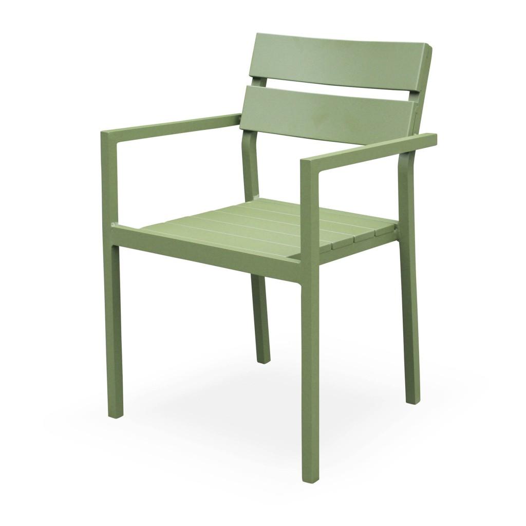 Vigor green arm chair
