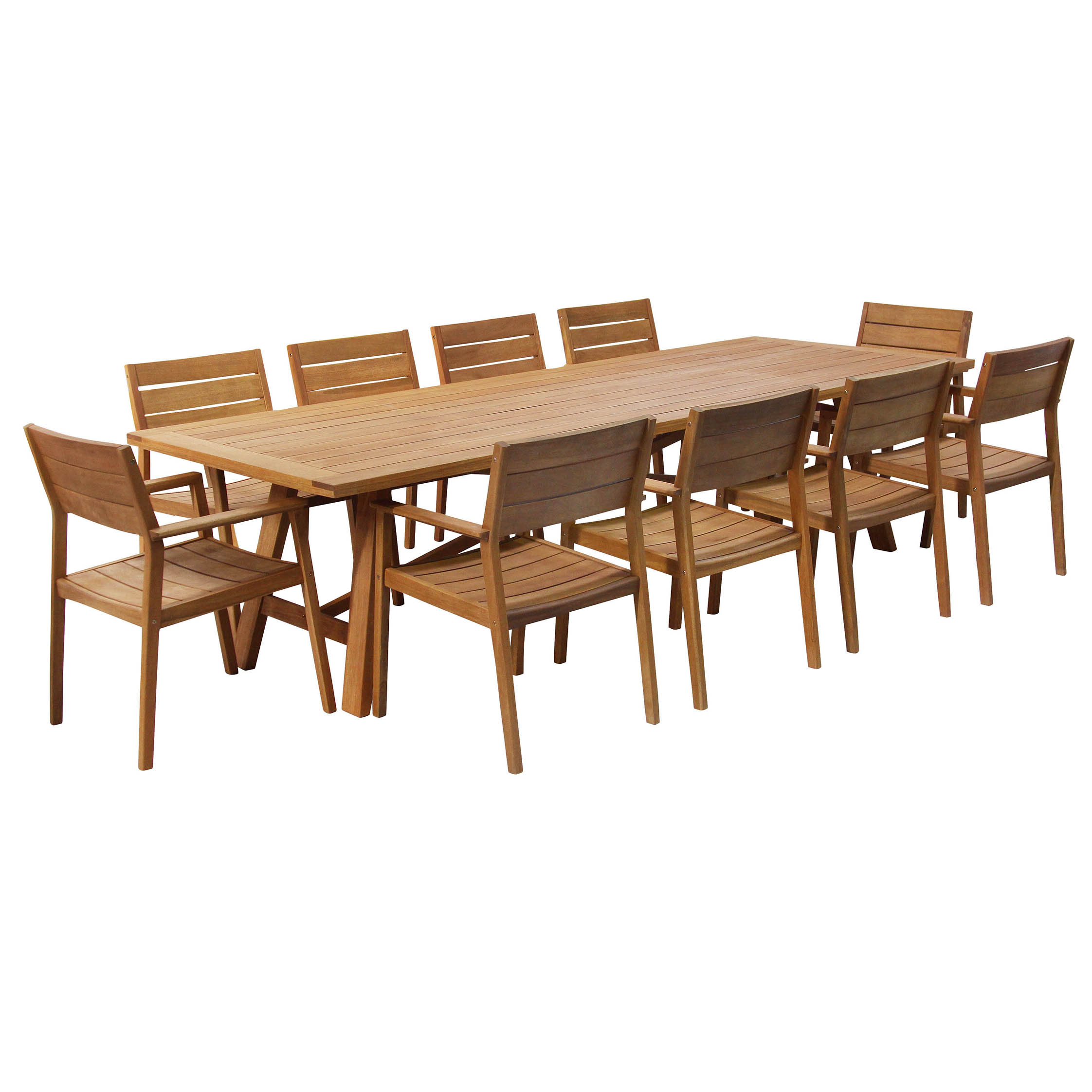 Cacey 10 seater Wooden