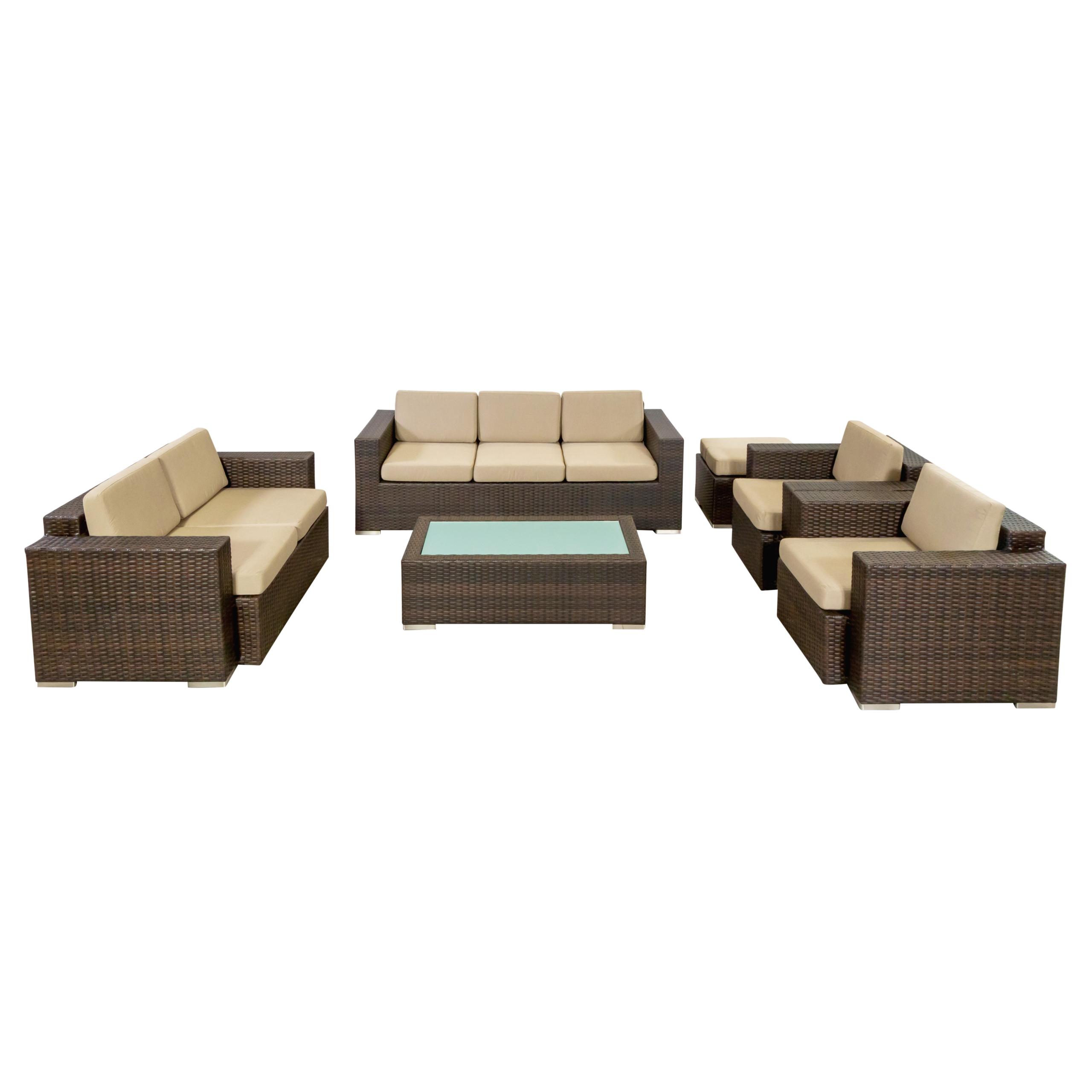 Dinya lounge suite brown