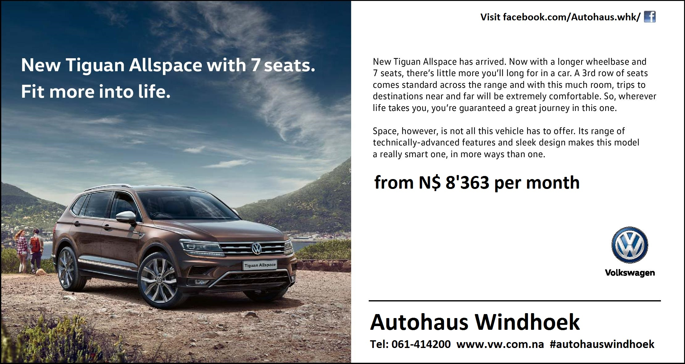 Tiguan Allspace with 7 seats