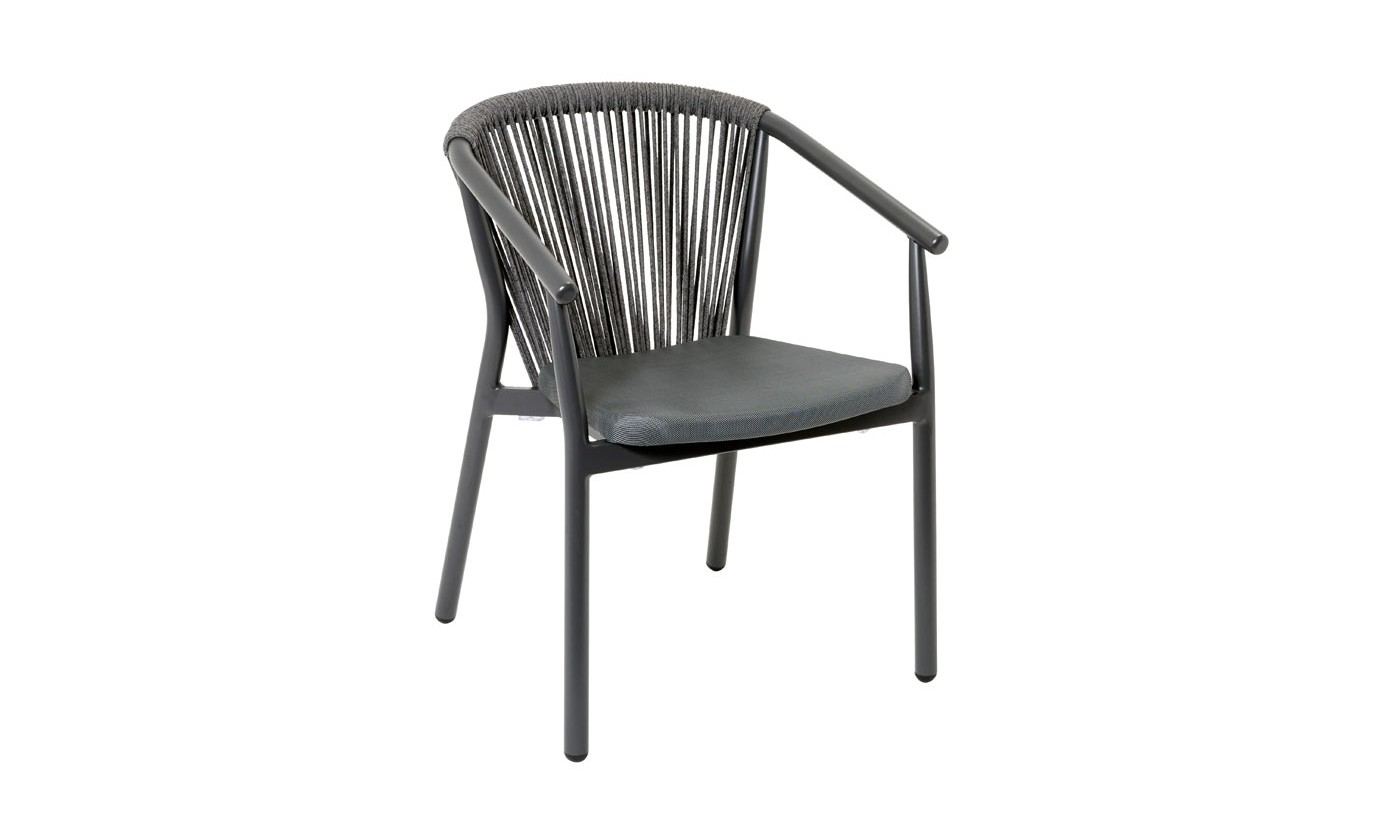 Filo Dining arm chair Anthracite