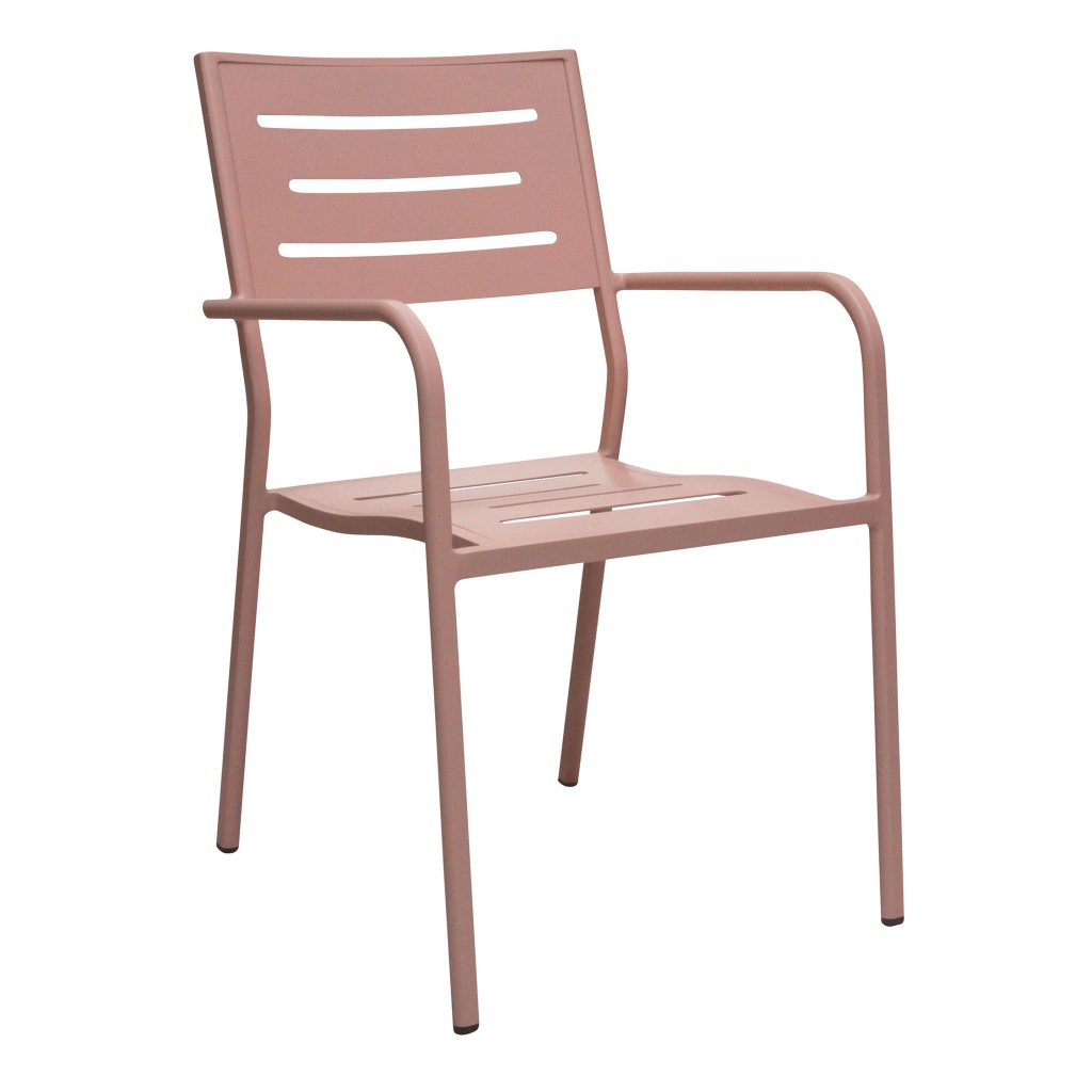 Owen pink dining arm chair