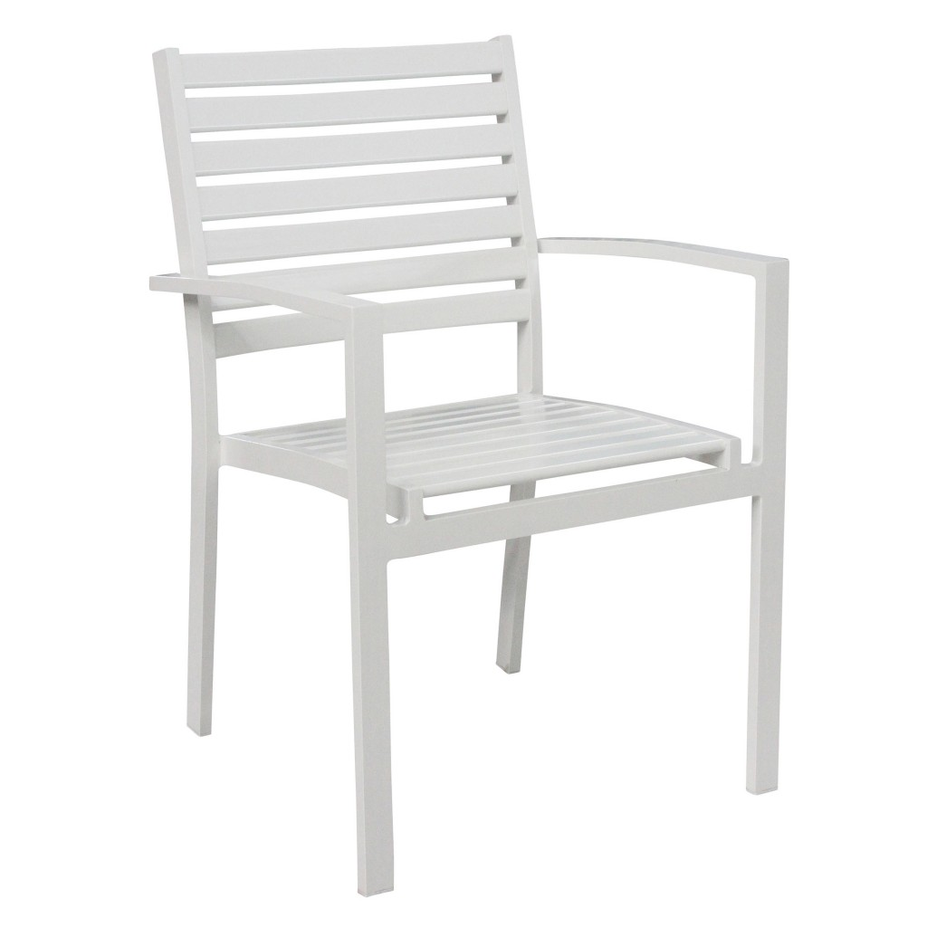 Romeo dining arm chair - White