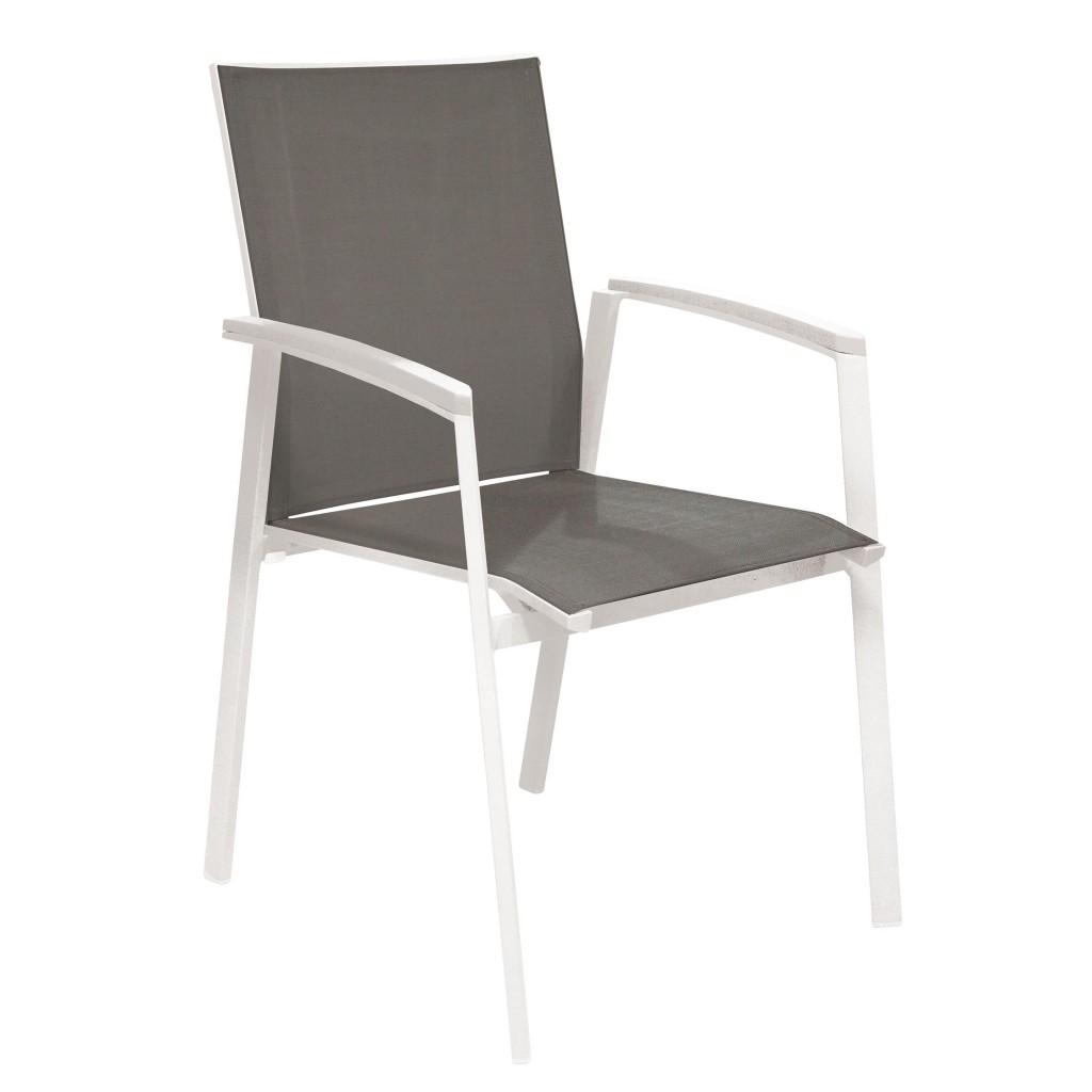 Tino white arm chair