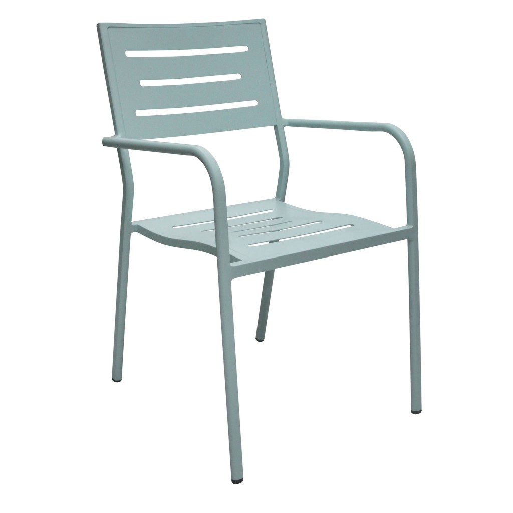 Owen blue dining arm chair