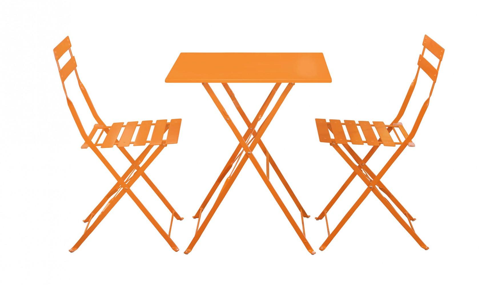 Maurizio Chat Set Orange