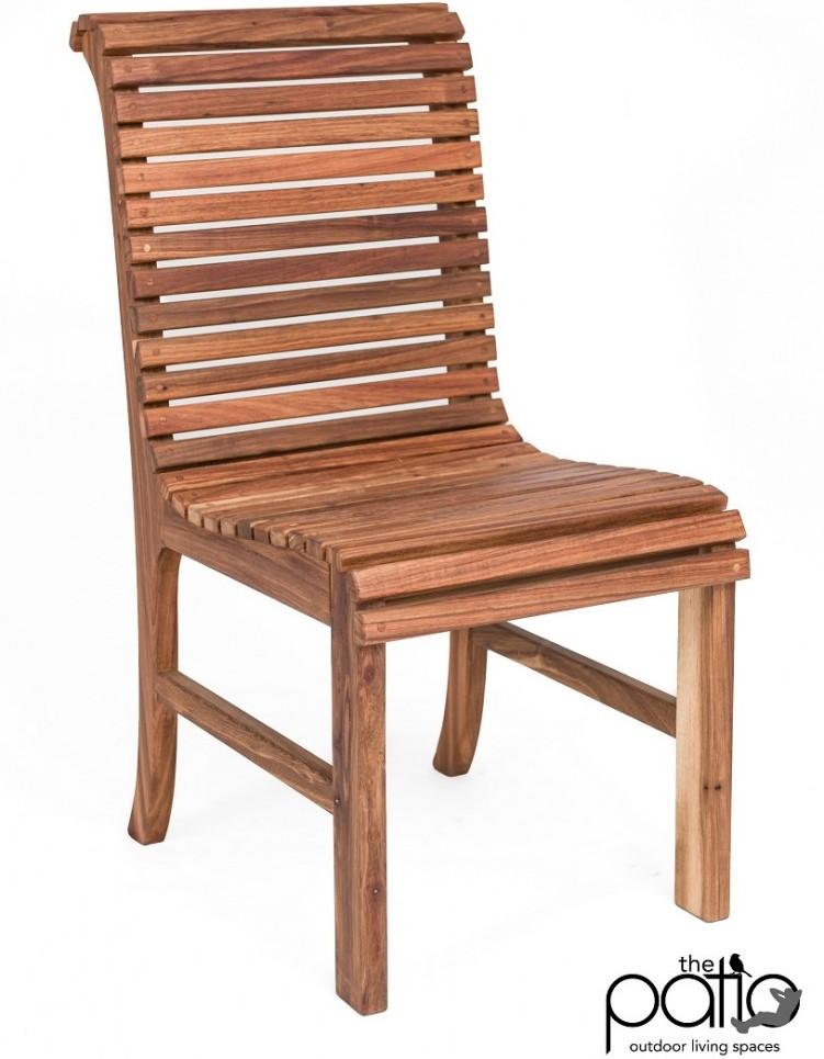 Kiaat Slatted Patio Chair