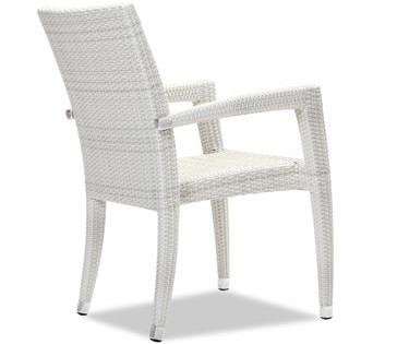Sasha Dining arm chair white